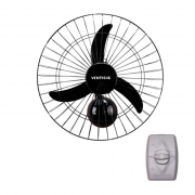 Ventilador de parede 50cm 127/220v preto ventisol mod. new ref. 538