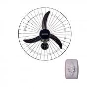 Ventilador de parede 60cm 127/220v preto ventisol mod. new ref. 543