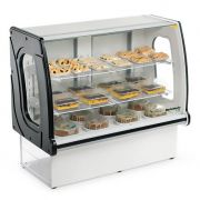 Vitrine natural new panoramica refrimate 1,26 mt preto vnps 1260