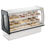 Vitrine natural new panoramica refrimate 1,79 mt preto vnps 1790
