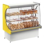 Vitrine natural refrimate panoramica 1,20 mt amarelo mod.vps-1200 ref. 011375-1