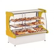 Vitrine natural refrimate panoramica 1,80 mt amarelo mod. vps-1800