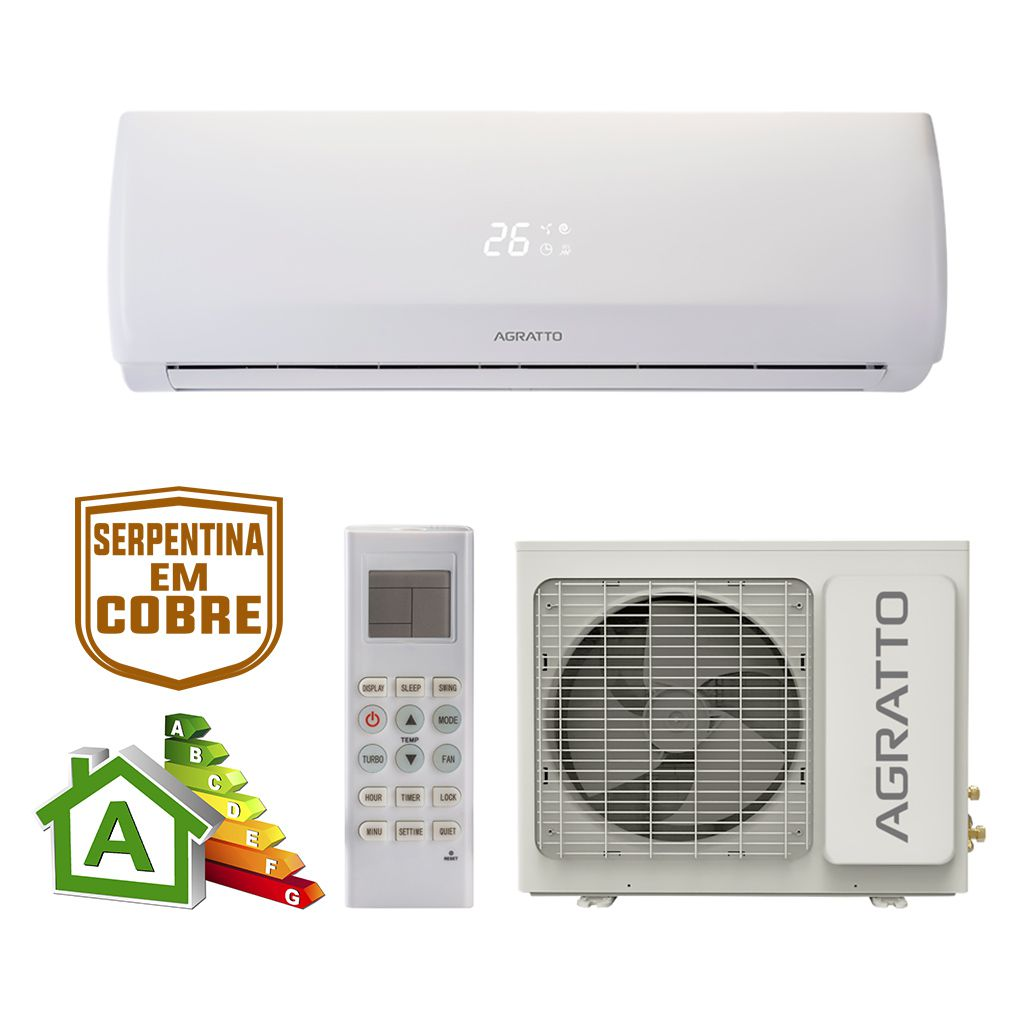 Ar Condicionado Split High Wall Agratto Fit Top Só Frio 18000 BTUs ccs18fr4 - 220v