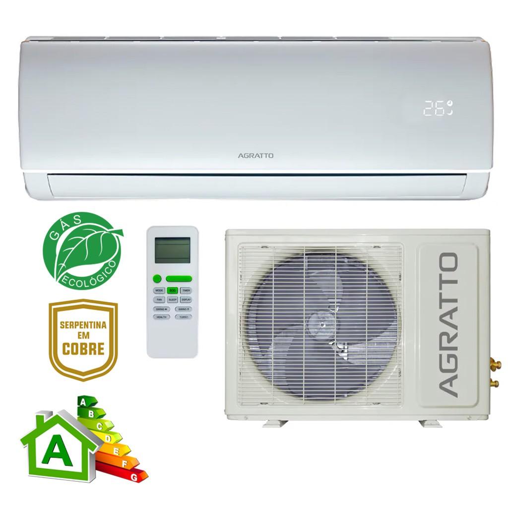 Ar Condicionado Split High Wall Agratto Eco Inverter Só Frio 18000 BTUs EICS18FR4 - 220v