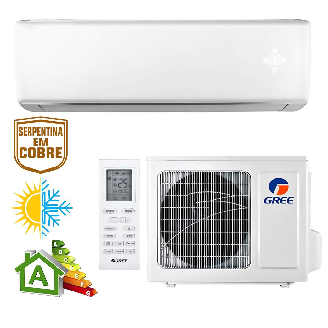 Ar Condicionado Split High Wall Gree Eco Garden Quente e Frio 12000 BTUs GWH12QC-D3NNB4A