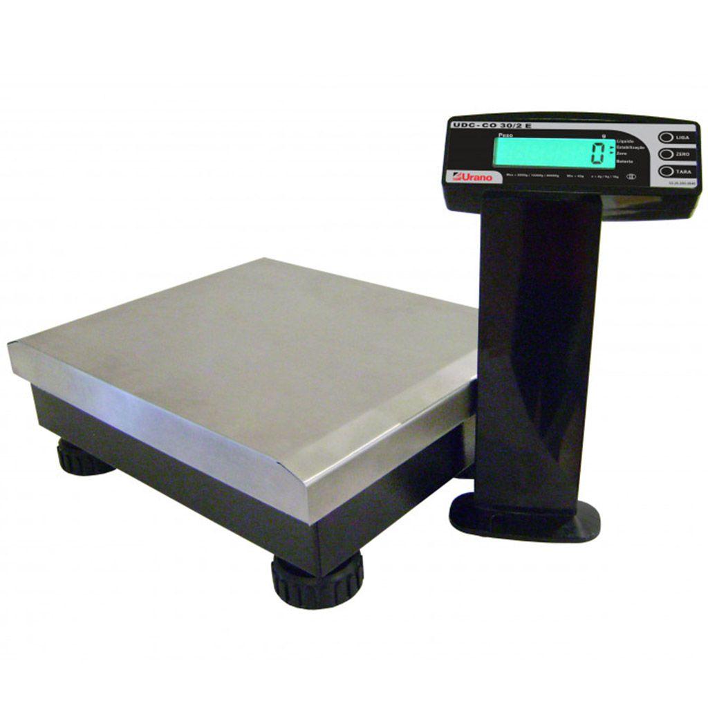 Balanca 30kg check-out s/ bateria mod. udc-co urano  ref. 22.31.104.0358