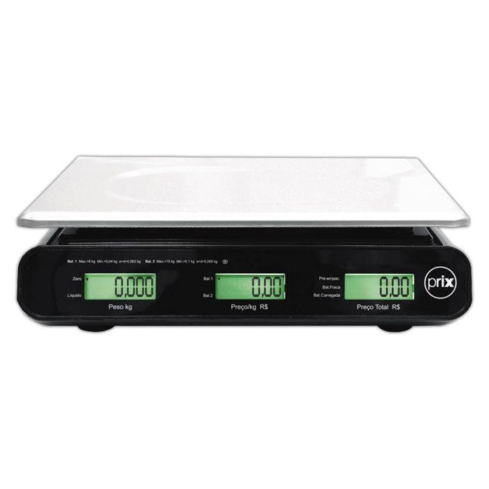 Balanca comput. 30kg c/ bat. c/ saida 127/220v toledo prix-iii plus p300002