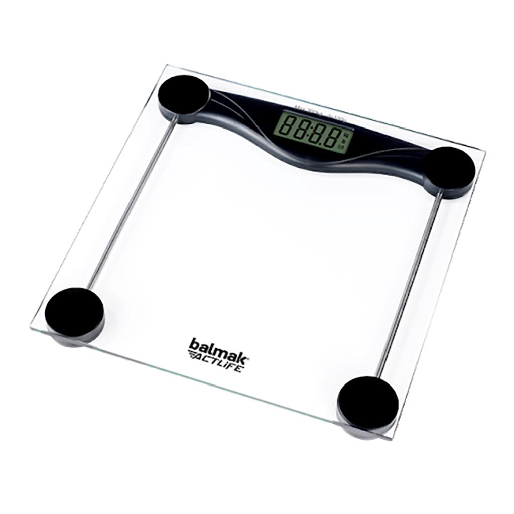 Balança Digital de Vidro Análise Corporal 200Kg Balmak Slimbasic-200