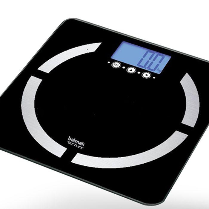 Balanca digital p/ pesar e analise corporal cap.150kg balmak slimtop-180 (vidro