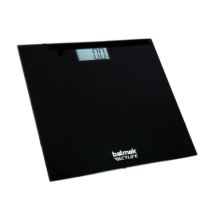 Balanca digital p/ pesar pessoas cap. 150kg balmak slimbasic-150 pa0136 (vidro)