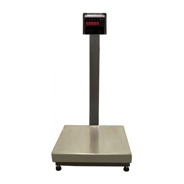 Balanca plataforma elet.300kg 50x50cm ramuza 127/220v inox c/coluna mod.dp300ip