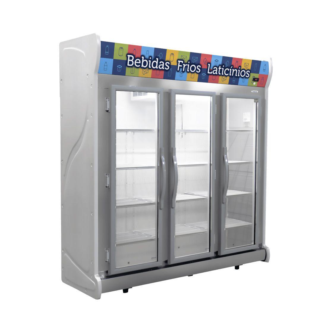 Expositor Refrigerado Auto Serviço Vertical Fricon Frost Free Cinza ACFM1450 - 220v