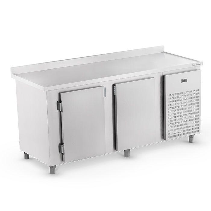 Balcao frigorifico de encosto 2,00 mt 220 v em inox refrimate mod.bsr2000