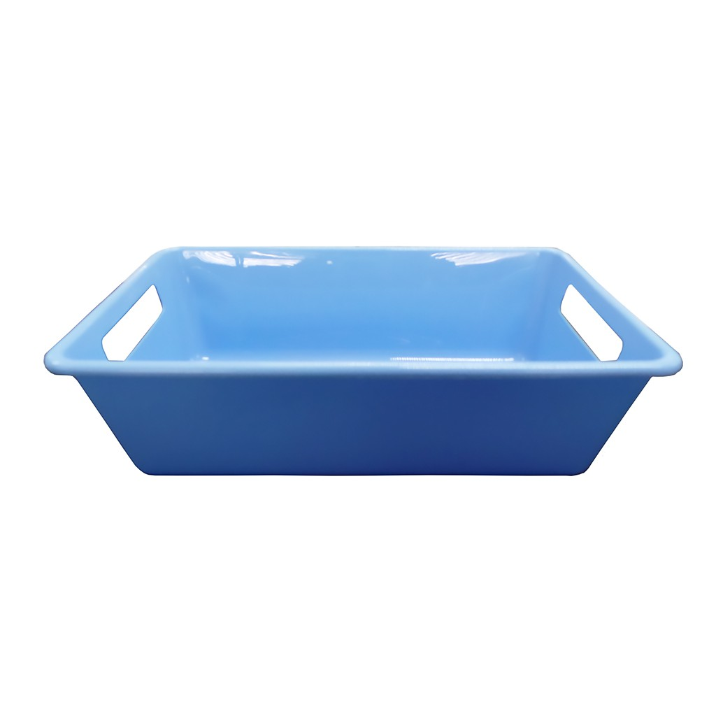 Bandeja Azul Bebê 3L 8,5x28,5x18cm Della Plast