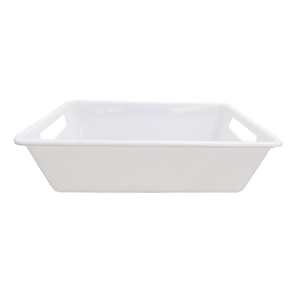 Bandeja Branca 3L 8,5x18,5x29cm Della Plast