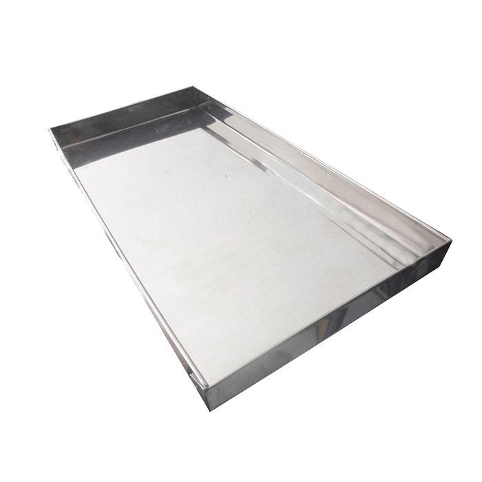 Bandeja em inox p/ estufa edanca med. 23 x 13 x 2cm