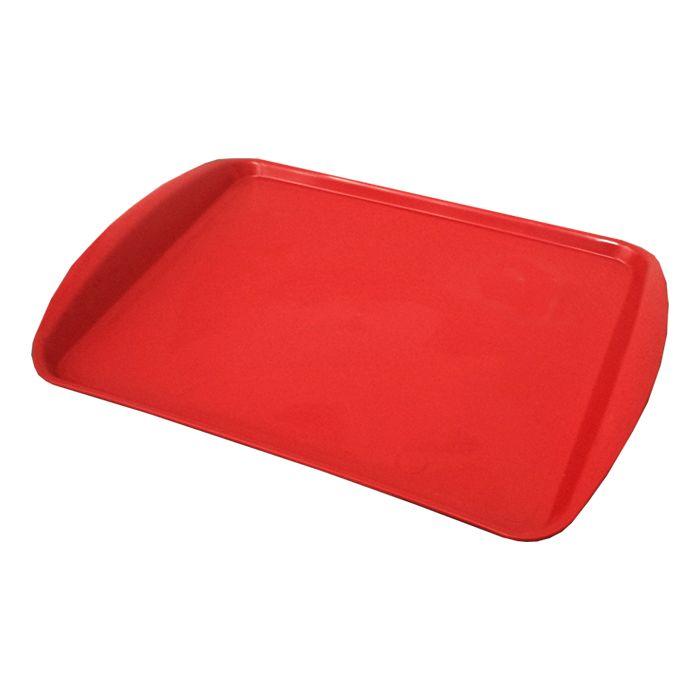 Bandeja Para Auto Serviço 31x42cm Vermelho Della Plast