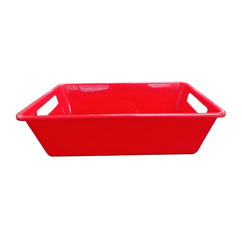 Bandeja Vermelha 3L 8,5x18,5x29cm Della Plast
