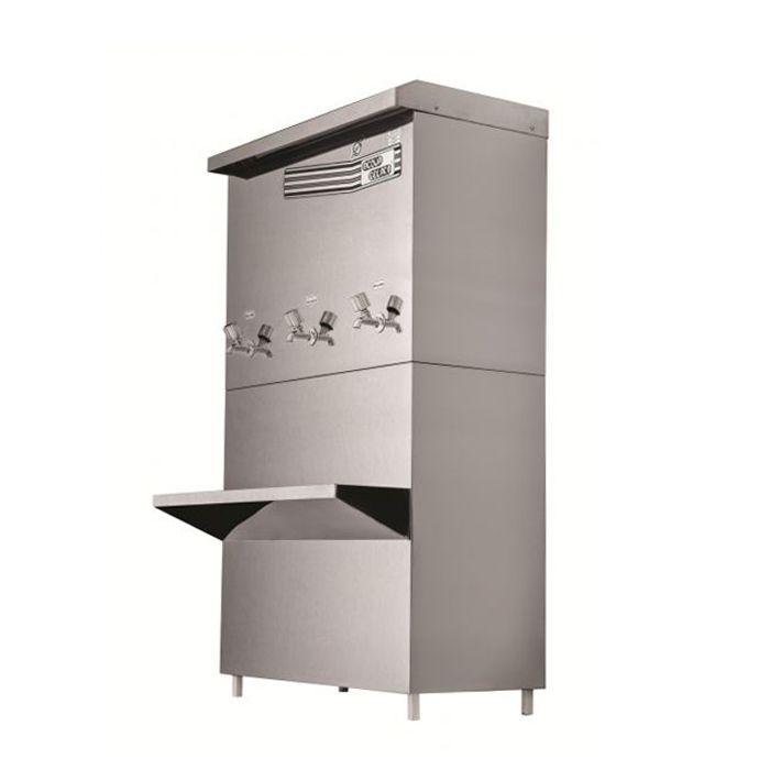 Bebedouro industrial 100lt/hr 3 torn. aco inox acqua gelata 127v mod. pre-100e