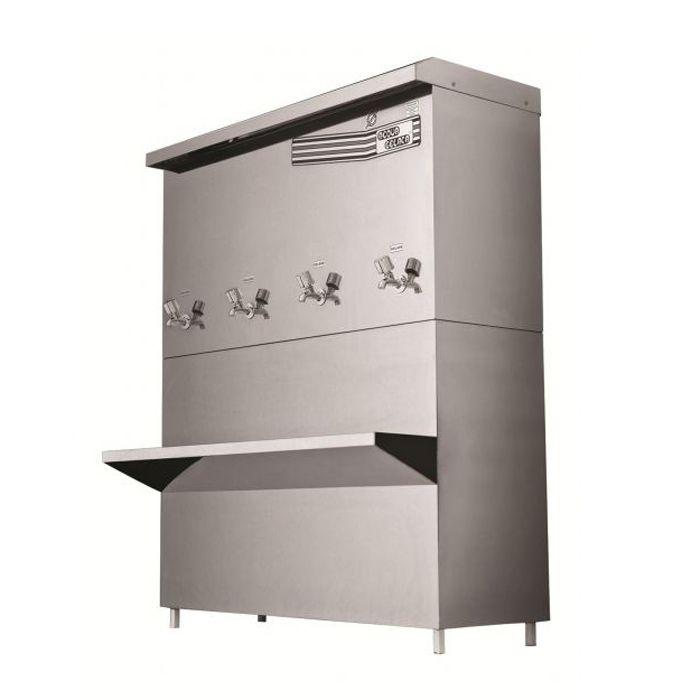 Bebedouro industrial 200lt/hr 4 torn. aco inox acqua gelata 127v mod. pre-200e