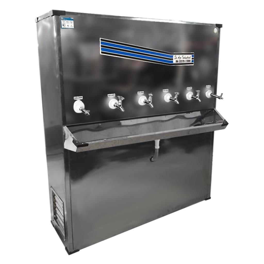 Bebedouro Industrial De Coluna Só Aço 220L Inox Bi06ti - 127v