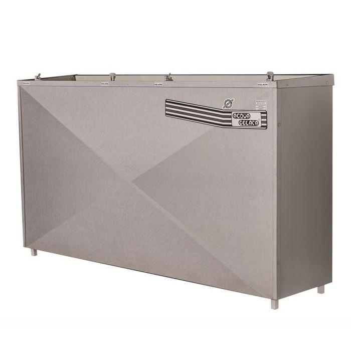 Bebedouro pressao 200lt/hr 4 torn. aco inox acqua gelata 127v mod. pag-200
