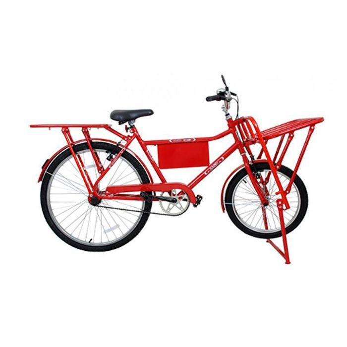 Bicicleta Cargueira Food Bike Vermelha