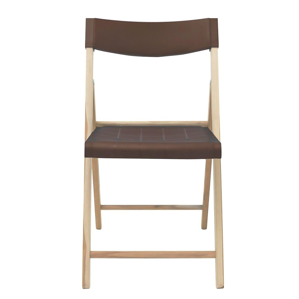 Cadeira Dobrável Em Madeira Teca Natural Marrom Potenza 78x42x54cm Tramontina