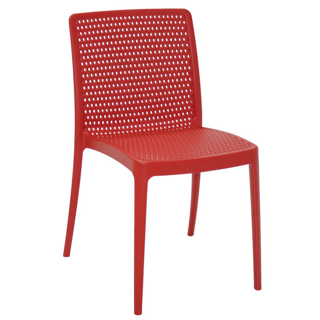 Cadeira em Polipropileno Isabelle 98,5x53x66cm Tramontina - Vermelha