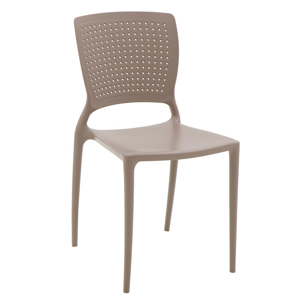 Cadeira em Polipropileno Safira Summa 84x43x52cm Tramontina - Camurça
