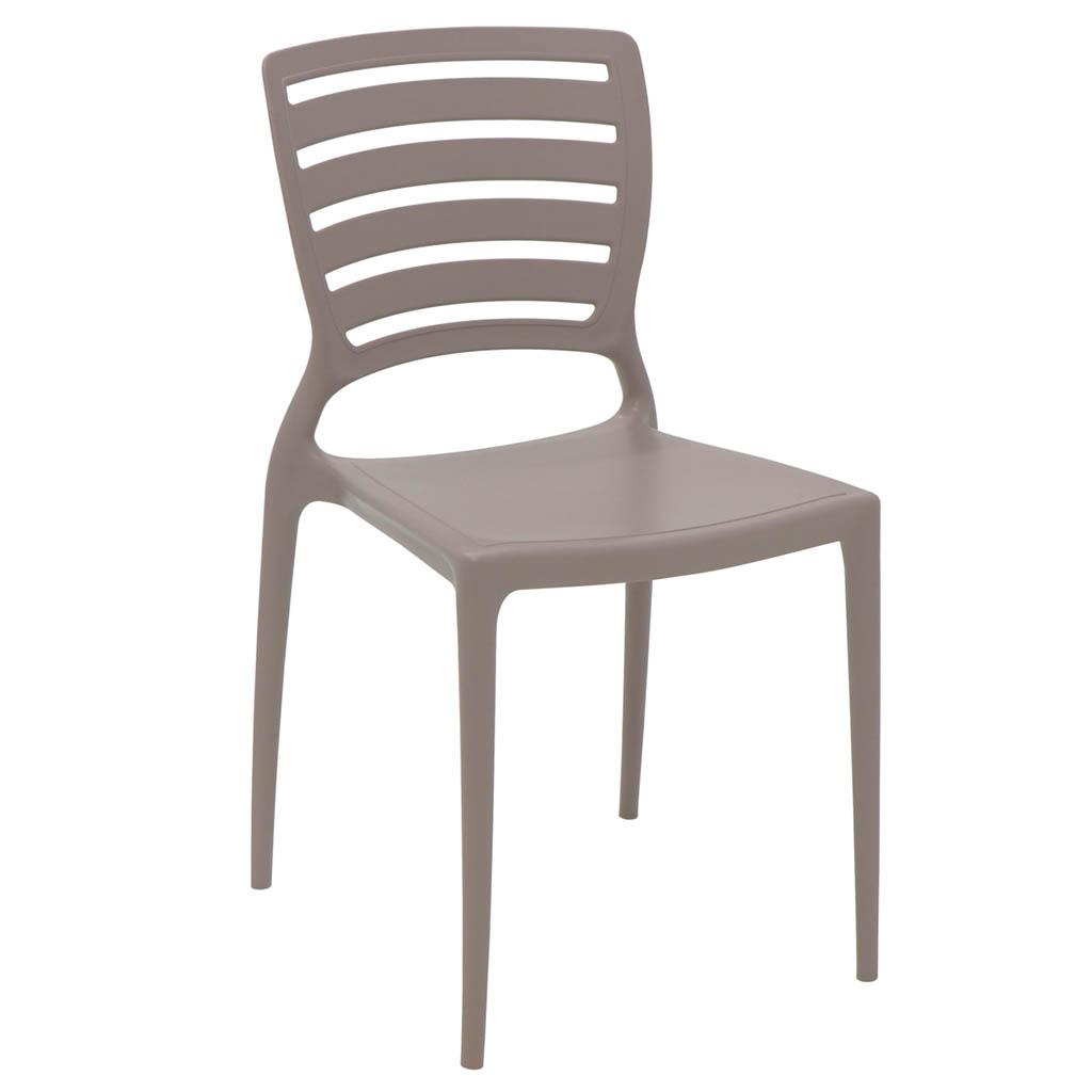 Cadeira em Polipropileno Sofia 82,5x45,5x53cm Tramontina - Camurça