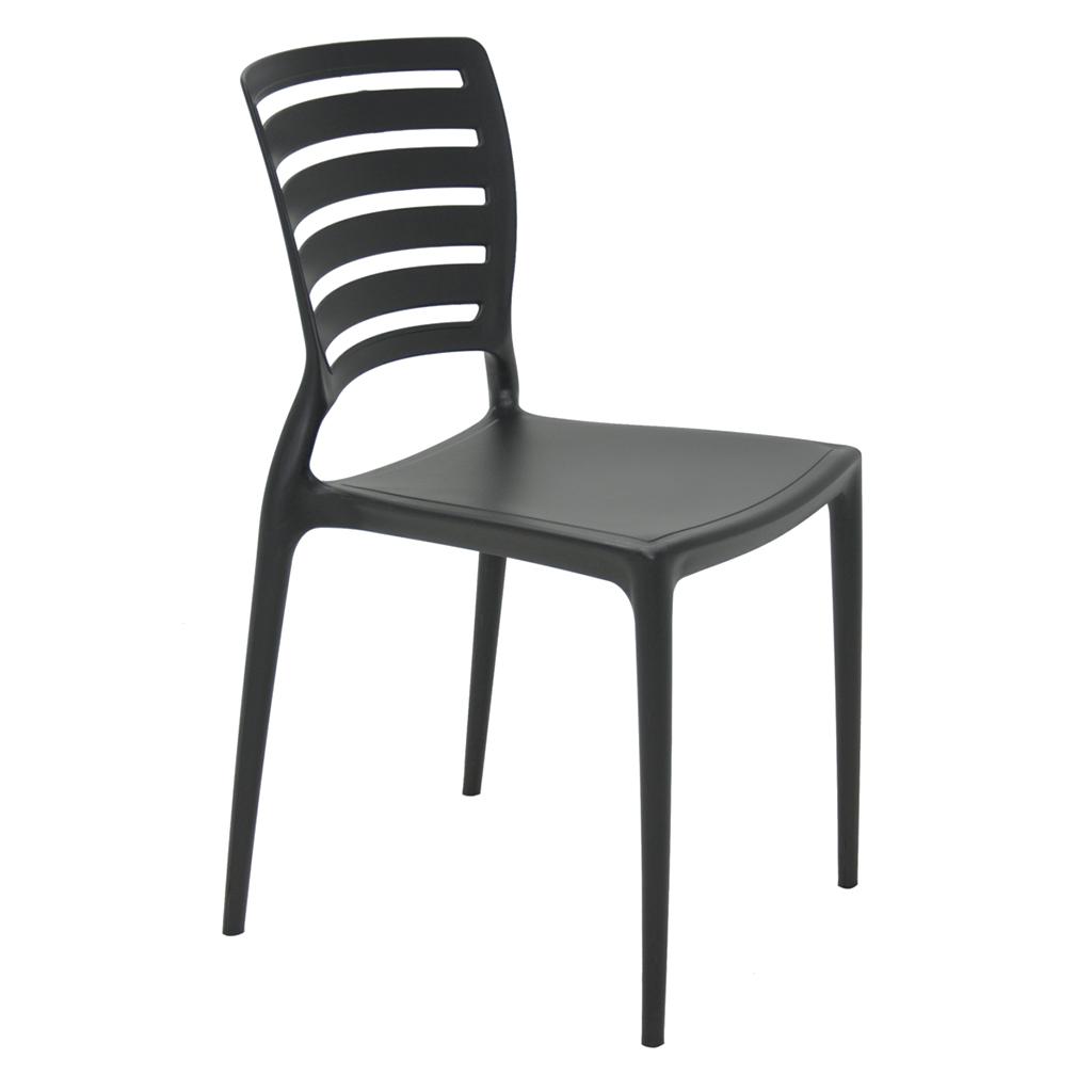 Cadeira Em Polipropileno Sofia Summa 82,5x43,5x51,5cm Tramontina - Preto