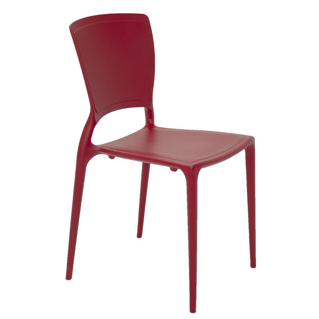 Cadeira Em Polipropileno Sofia Summa 82,5x45,5x53cm Tramontina - Vermelho