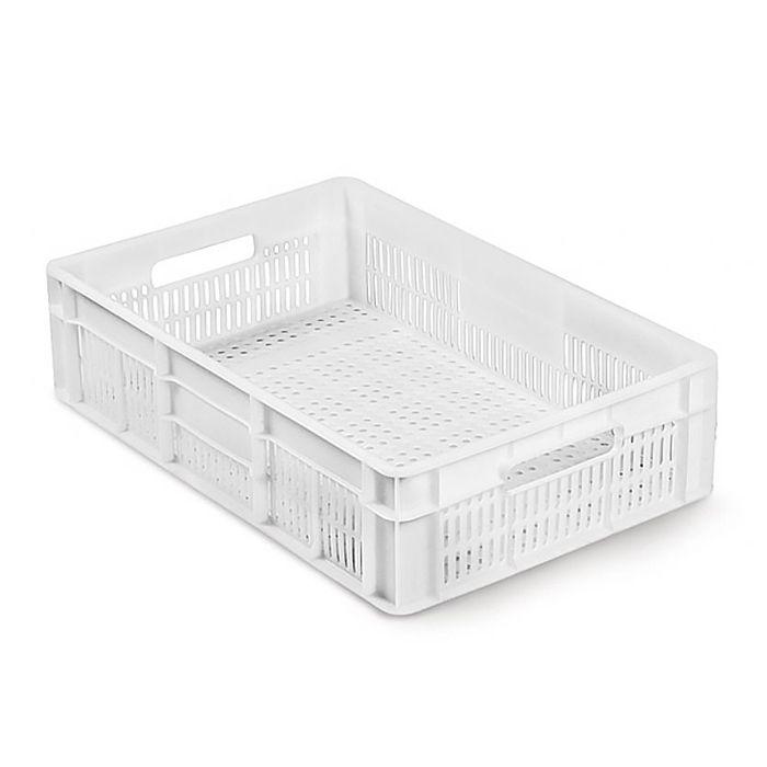 Caixa Plástica Vazada 26L Branco Mercoplasa