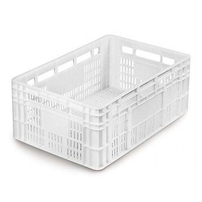 Caixa Plástica Vazada 45,5L Branco Mercoplasa