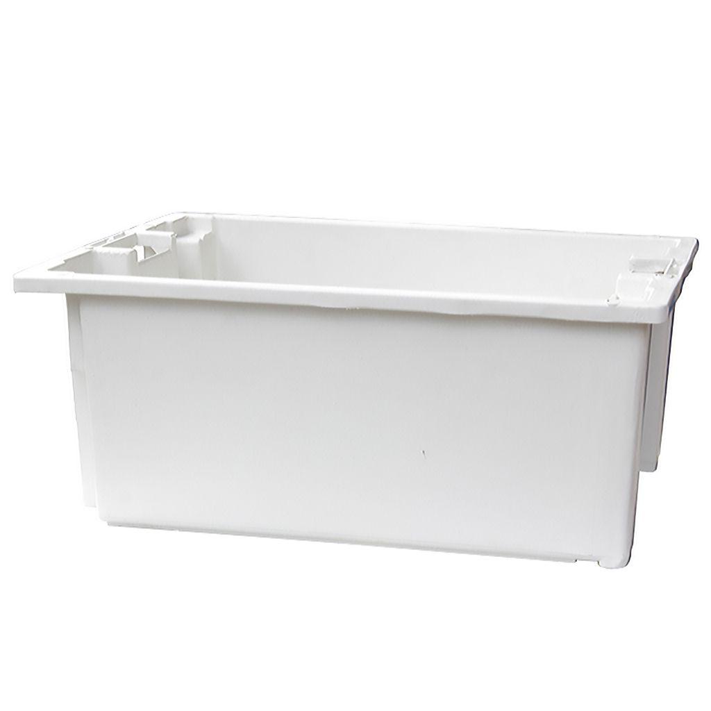 Caixa 46lt p/ uso geral branca a25 x l44 x c60,5 cm marfinite ref. 1011