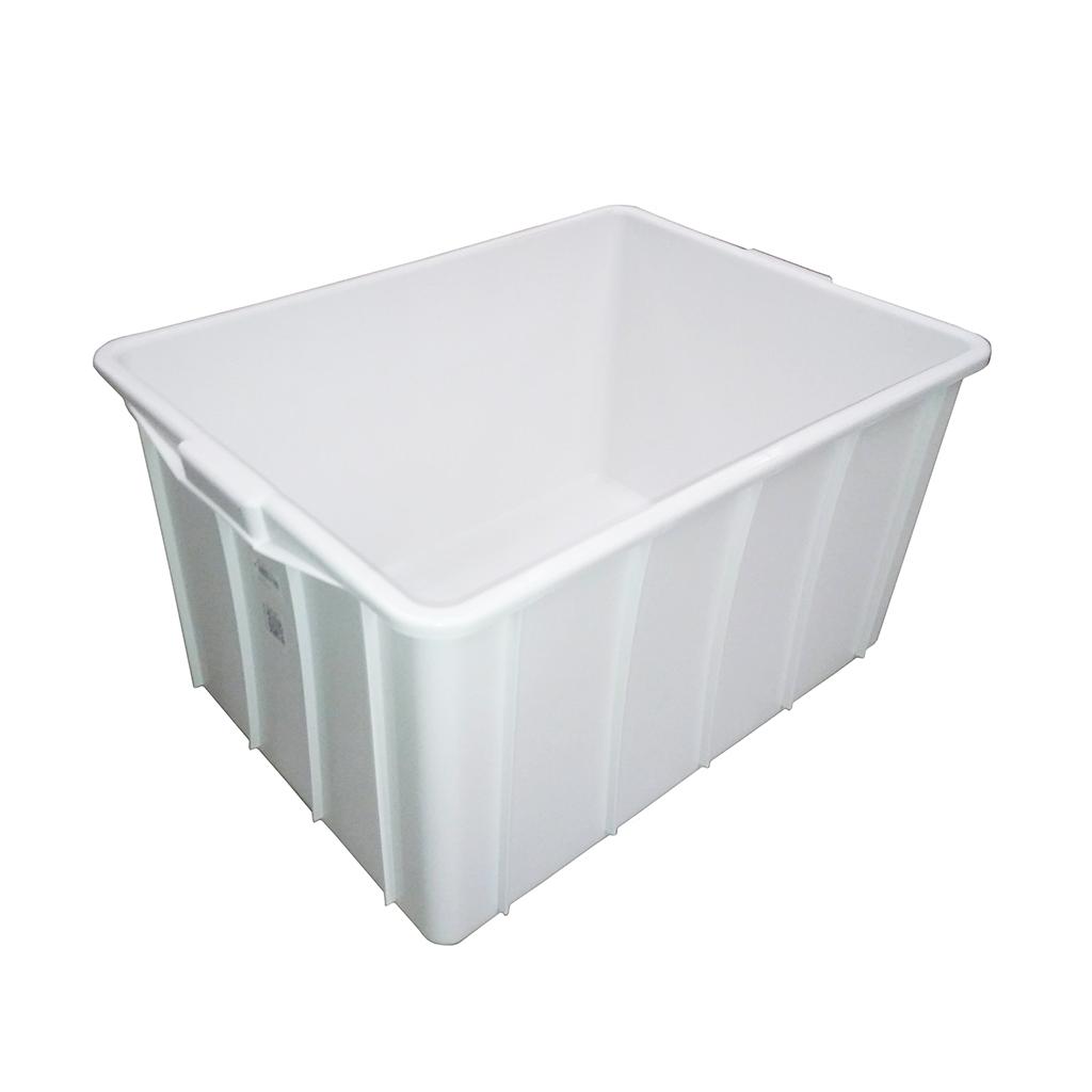 Caixa Plástica Fechada 140L Branco JSN - 41x76,5x55,5cm