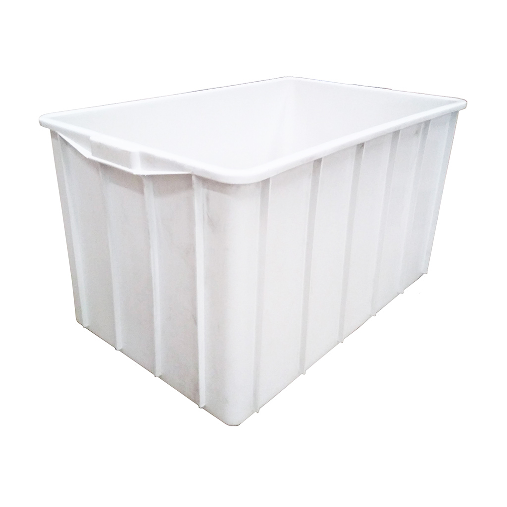 Caixa Plástica Fechada 180L Branco JSN - 48,5x88x55,5cm
