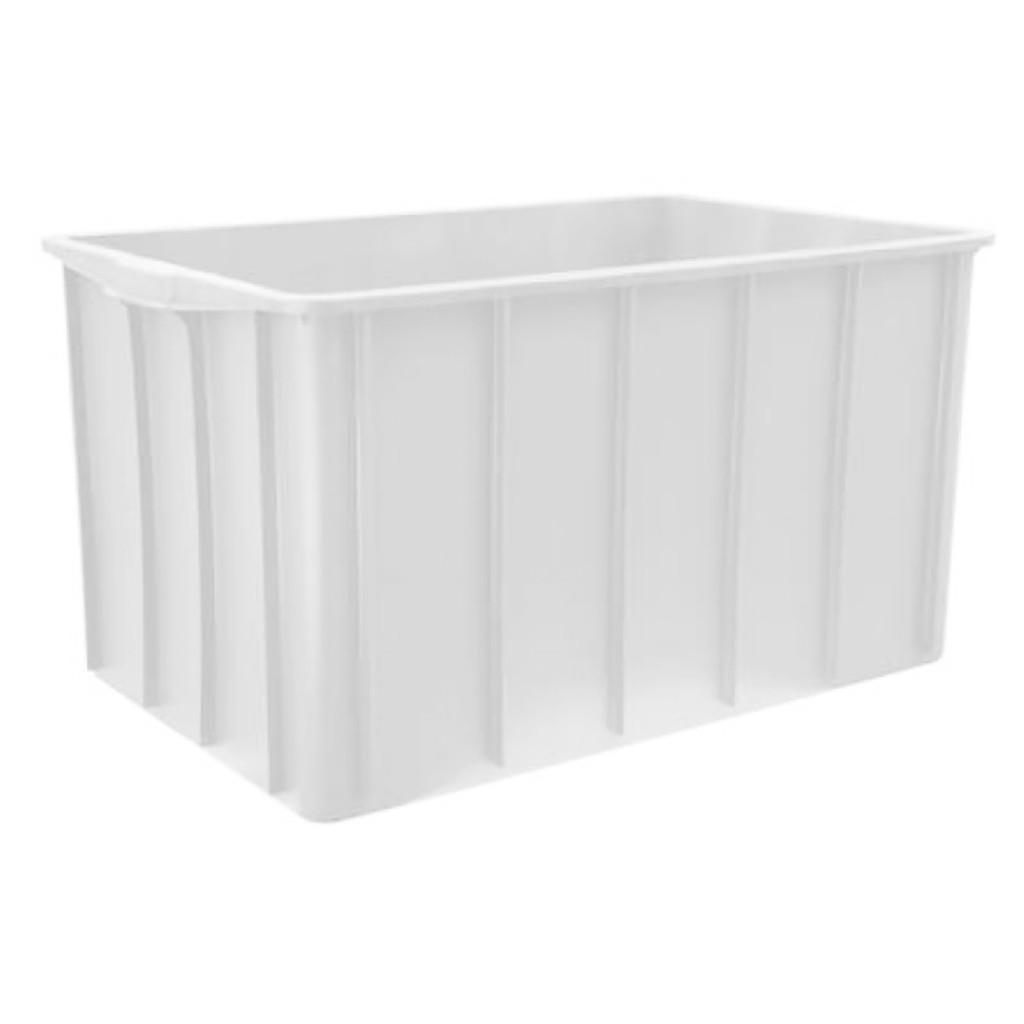Caixa Plástica Fechada 195L 48,5x56x89cm Marfinite Branca