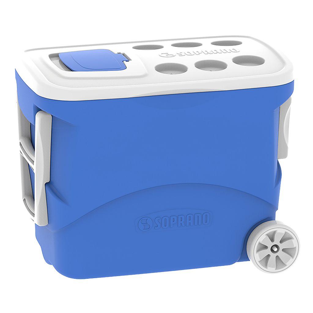 Caixa Térmica Soprano Com Rodas 50L Tropical Azul
