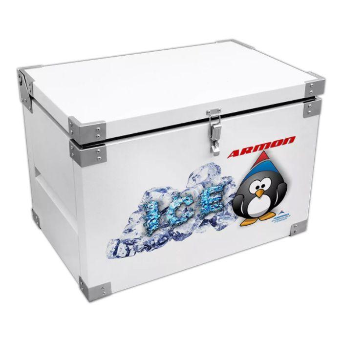 Caixa termica c/ revestimento interno em inox 250lt armon mod. tmi-250/ 9236