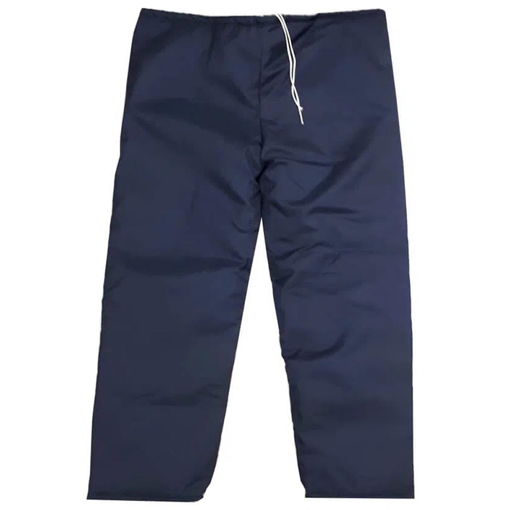 Calça Térmica Frigorífica em Nylon Para Câmara Fria Azul Marinho