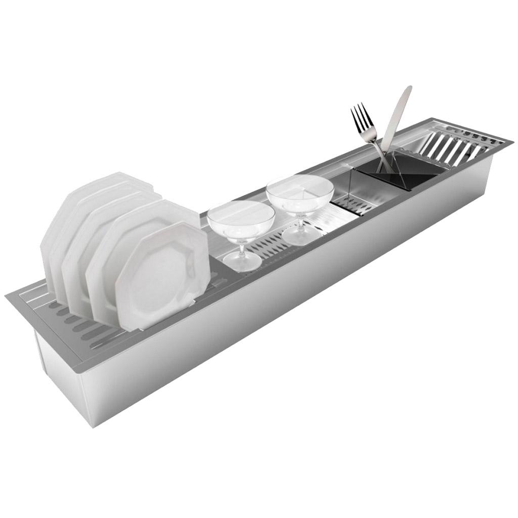Calha Úmida Organizadora Embutida CL90 Saro Inox 90cm