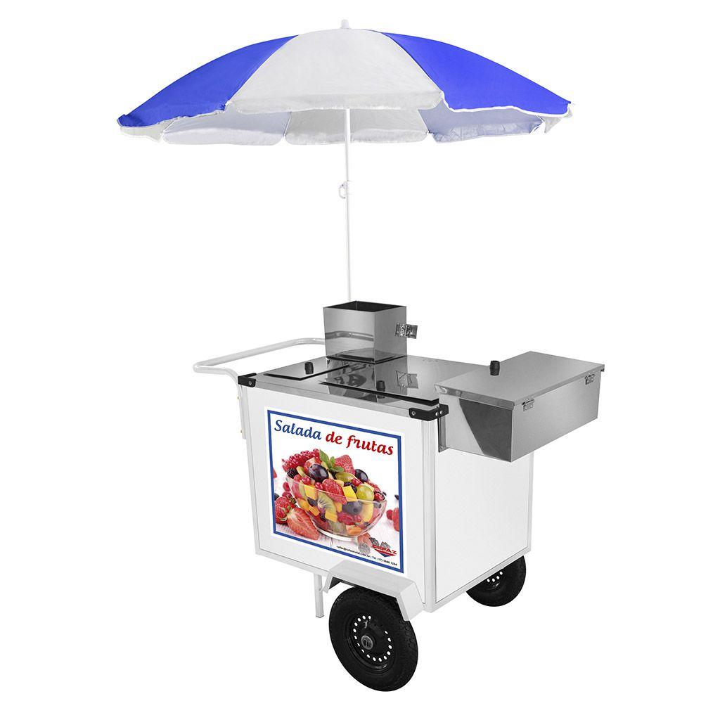 Carro de salada de frutas com guarda sol mod bl27p/gs