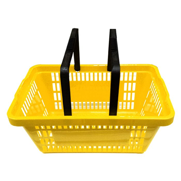 Cesta Plástica Para Mercados 20L Amarelo Della Plast