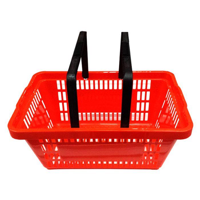 Cesta de compras p/ supermercado della plast laranja ref. 3000.12
