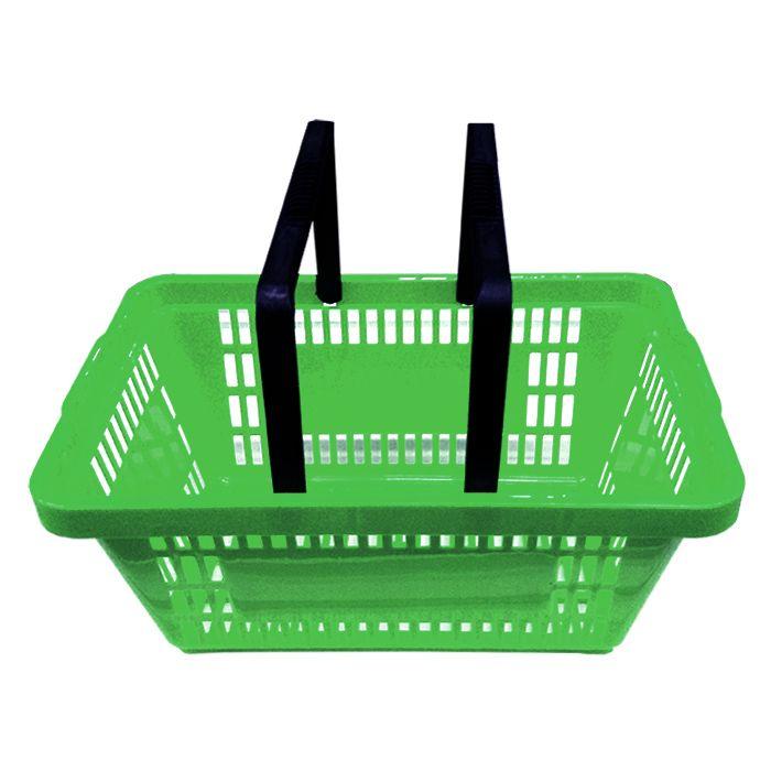 Cesta de compras p/ supermercado della plast verde ref. 1201/ c330