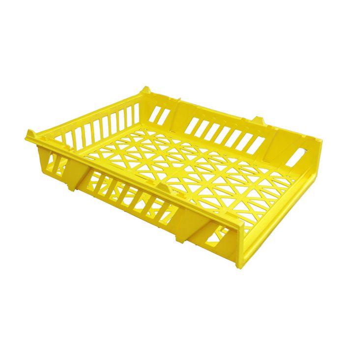Cesta expositora marfinite amarela p/ paes mod.10