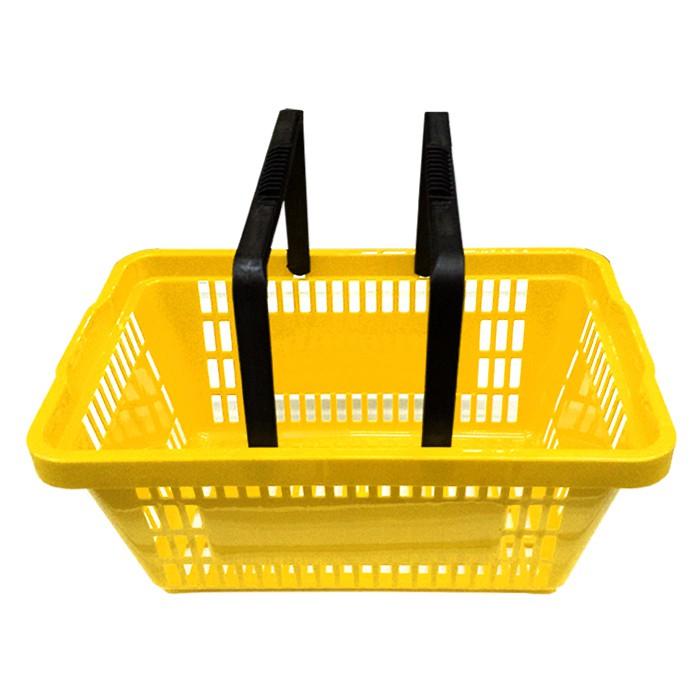 Cesta Plástica Para Mercados 6,5L Della Plast Amarelo