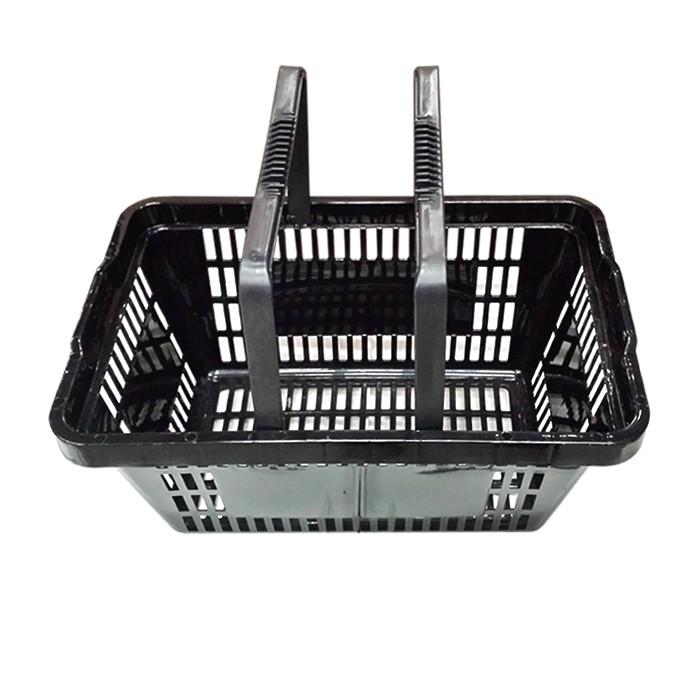 Cesta Plástica Para Mercados 6,5L Della Plast Preto